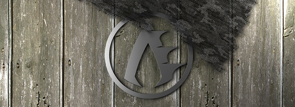 Archer's Edge Logo on Wooden Background with Camo Cloth.